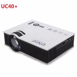 Wholesale 3d Vedio - Wholesale-Original UNIC UC40+ LED 3D Mini Pico Portable Projector 1080P Full HD Home Theater Vedio Projectors HDMI Multimedia Proyector