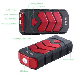 Wholesale Vehicle Power Packs - US Stock 12000mAh Car Jump Starter Power Inverter Battery Charger Pack for Auto Vehicle Starting and Power Bank