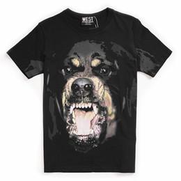Vendita calda Novità 3D Big Dog Stampa Casual Contton Donna Uomo T shirt Estate Streetwear Hip Hop Boy Top Tees Vestiti da