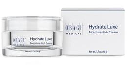 Wholesale Moisture Box - 2017 new Obagi Hydrate Luxe Moisture Rich Cream 1.7 oz High Quality Facial Moisturizer 48g Sealed in Box Moisturiser Free