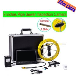 Wholesale Pipe Drain - free shipping WP91 50M Cable Pipeline Endoscope Underwater video inspection system 9'' LCD Pipe Drain Sewer Inspection Camera ann
