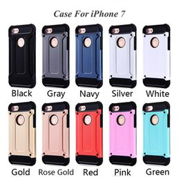 Wholesale Water Cell Phones - For Apple iphone 7 plus case 6 6S iphone7 Plus Samsung Galaxy Note 7 S7 edge Steel armor TPU PC cell phone protective covers