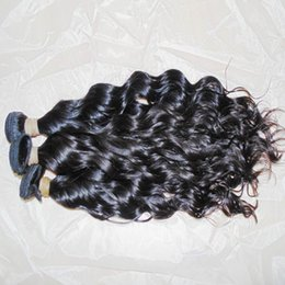 unprocessed human hair natural wavy Coupons - Natural Hair Wave Raw Virgin Water Wavy Indian Human Hair Unprocessed Wefts 300g lot Fast Warehouse