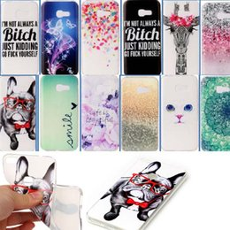 Wholesale Mobile Phone Case Dogs - Soft TPU Cat Dog Desert Back Cover Mobile Phone Case for P8 lite 2017 Huawei P10 Samsung Galaxy S8 J5 2017