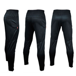 2021 футбольные бренды NEW 2017 Brand Mens Sportwear Athletic Football Soccer Training Sweat Skinny Pants gym running Casual Trousers Black HOT