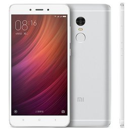 "Wholesale Cdma Glass Back - Original Xiaomi Redmi Note 4 4G LTE Cell Phone 3GB RAM 64GB ROM Helio X20 Deca Core MIUI 8 5.5"" 2.5D Glass 13.0MP Fingerprint Mobile Phone"