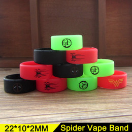 Wholesale Wholesale Spider Rings - Spider Series Vape Band 20*10mm Punisher Crown Smile Face Pattern E Cigarette Vape Bands Silicone Ring For Sub Ohm Mechanical Mod