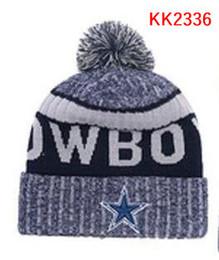 Wholesale Dallas Cowboys Hats - New Fashion Unisex Cowboys Winter Dallas Hats for Men women Knitted Beanie Wool Hat Man Knit Bonnet Beanie Gorro Warm Cap
