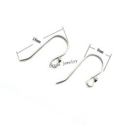 Argentina 925 Pendientes de Plata Esterlina Ganchos Resultados de la Joyería Componentes Para DIY Craft Jewelry 18mm 10 par / lote Envío Gratis W045 Suministro