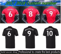 Wholesale Bigger Sizes - Hot bigger fat Larger size 2XL 3XL 4XL 2017 2018 TOP Quality SOCCER jerseys 17 18 new UnITED Ibrahimovic ROONEY POGBA SHIRT Free shipping