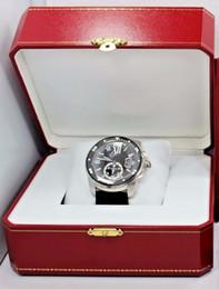 Резиновые наручные часы онлайн-Новый Калибр Де Diver W7100056 42 мм Автоматические Машины мужские Часы Черный Циферблат И Резинка Роскошные мужские Спортивные Наручные Часы Оригинальная Коробка