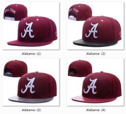 Wholesale Animal Hats Mix - 2018 New NCAA Alabama Crimson Tide Snapback Hats For Men and Women Brand College Football Cap Mix Order Adjustable Caps
