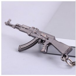 Wholesale London Keychain - AK47 Guns cosplay Keychain Novelty Items Sniper Key chain Key ring Chaveiro Jewelry Llaveros London Souvenirs Gift For Men 2017 wholesale