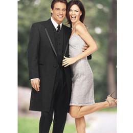 Wholesale Flattering Long Gowns - Custom Black Men's Wedding Set Groomsmen Tuxedo Formal Business Men's Set And Men's Swallowtail Evening Gown