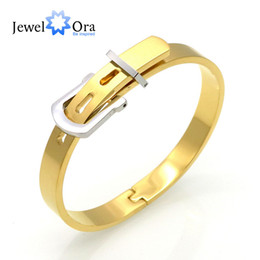 Wholesale Channel Belts - New Fashion Unisex Adjustable Belt Buckle Bracelets & Bangles 316 LStainless Steel Bracelets Best Gift ( BA101578) 17401