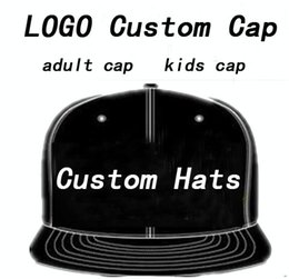 Wholesale Embroidered Hat Custom - LOGO Custom hat cap Adult Customized Baseball Caps LOGO Embroidery Snapback Cap Customized Hats Mens Womens Children Kids Size Wholesale
