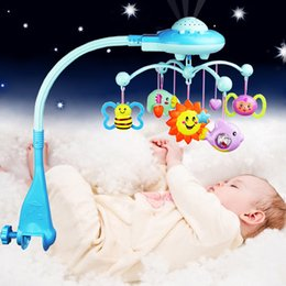 Wholesale Projection Mobiles - Wholesale- New Mobiles Baby Rattle With Projection Stars Rotating Music Newborn Bed Bell Children's Toys For Christmas Birthday Gift Toys
