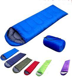 Wholesale fleece hiking - Outdoor Sleeping Bags Warming Single Sleeping Bag Casual Waterproof Blankets Envelope Camping Travel Hiking Blankets Sleeping Bag KKA1602