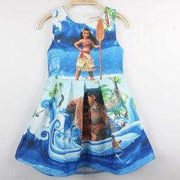 Wholesale Kids School Dress - Cartoon Moana Maui Dresses for Girls Short Sleeveless 2017 Movie vestidos Back to School Toddler Kids clothes vestido infantil