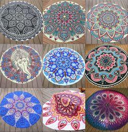 Wholesale Indian Shawls Wholesale - Mandala Beach Towels Tapestry Hippy Boho Tablecloth Bohemian Beach Towel Serviette Covers Beach Shawl Indian Wrap Yoga Mat