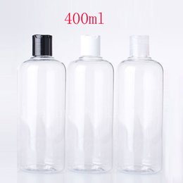 Wholesale Liquid Soap Bottles Wholesale - 400ml Disk Screw Cap Cosmetics Plastic Container , Clear Empty Liquid Soap Shampoo Bottles 400cc Transparent Bottle 15pc lot