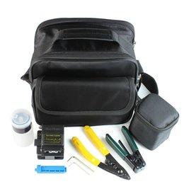 Wholesale Fiber Optic Splice Kit - Fiber Optic Tool 7 in 1 FTTH Splice fiber optic tool kits Fibre stripper +60S fiber cleaver and tools bag Kit