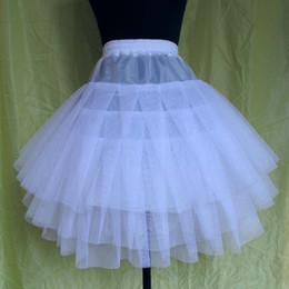 Wholesale slip dresses for girls - 2017 Cheap White Girls' Petticoats for Flower Girls Dresses 3 Layers Tulle Length 60cm Slip Underskirt Crinoline Kids' Accessories S M L