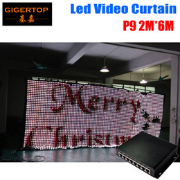 Wholesale Cheap Wedding Curtains - P9 2M*6M LED Video Curtain PC Mode Controller Wedding Backdrop Cheap Price P9 Led Graphic Curtain 90V-240V Led Backdrops