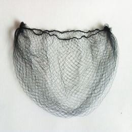 Extensões elásticas on-line-Barato Ultrafino Invisível Elastic Hair Net Peruca de Malha / Peruca / Extensão Do Cabelo de Proteção Hairnet Cor Preta 6-50 polegada 100 pçslote