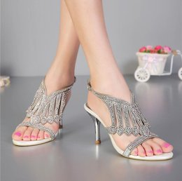 Wholesale Cheap Toe Sandals - 2018 Silver Fashion Real Bridal Wedding Shoes Rhinestone Crystal Women andals Shoes Hot Sale Shoe Buckle Straps Cheap Modest