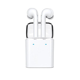 Wholesale Hd Twin - Dacom Wireless Twins Bluetooth Earphones HD Stereo Earbuds with Charging box for iPhone 7 Samsung Huawei Xiaomi Smart Devices