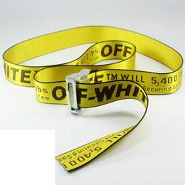 Wholesale Industrial Style - Mens Women Streetwear Fashion Off White Belt Hiphop Brand Canvas Belts Long Style Harajuku C O Virgil Abloh Industrial 150cm 200cm