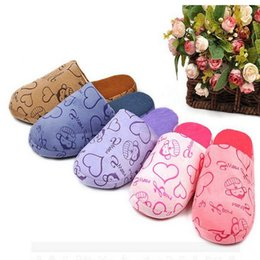 Wholesale Travel Shoes For Men - Free Shipping Sweet Monkey 2017 New Non-slip Travel Light Multi-colored Cartoon Woman Indoor Slippers For Man Lovers Home Shoe Cotton-padded