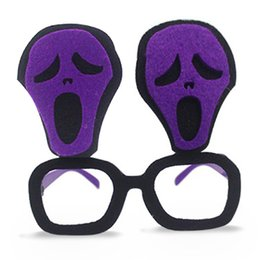 Wholesale Halloween Party Sunglasses - Eyeglasses Party Funny Style Costumes Sunglasses Ghost Pumpkin Patterns Glasses Event Party Supplies Decoration