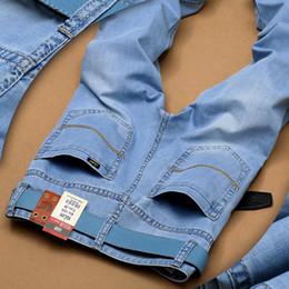 Wholesale Trousers Colors - Wholesale-2016 summer Utr thin Fashion Men's Jeans Casual Jean Trousers Skinny Denim Jeans Famous Brand Slim fit Jeans 2 colors