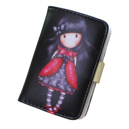 Wholesale New Fashion Girls Photos - New Women Cards Holder Fashion Cute Girls Pattern 24 Cards Hasp Buckle Business Credit Bank Female Cards ID Holder Wallet Purses