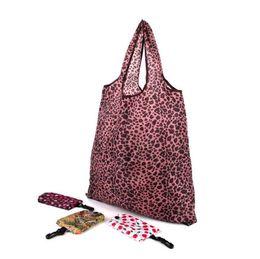 Wholesale Waterproof Foldable Tote Handbag Wholesale - Reusable Printing Foldable Shopping Bags Portable Eco Polyseter Waterproof Travel Storage Bag Pouch Tote Handbag OOA2435