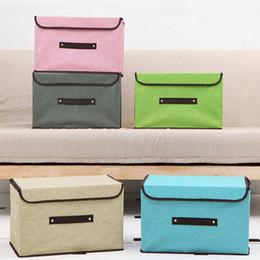 Wholesale Wholesale Kids Bra - Fabric Folding Clothes Storage Box for Socks Underwear Ties Bra Cosmetics Kids Toys Organizer Sundries Bin ZA4218