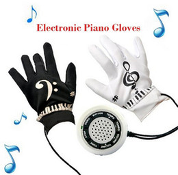 Wholesale Electronic Toys Gadgets - Electronic Piano Gloves Musical Piano Glove Novelty Gift Electric Educational Toy Children Funny Fingertips Gadget Office Game OOA1769