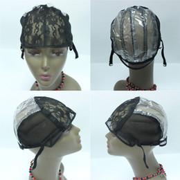 Apenas perucas on-line-Tampas peruca para fazer perucas apenas esticar rendas cap tecelagem alças reguláveis de volta garantia de alta qualidade