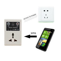 Wholesale Remote Gsm Switch - EU Plug Smart Home Automation Wireless Switch Socket For Lighting Android Wireless Remote Control GSM Socket Power Smart switch
