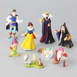 Wholesale Doll Princes - 8 pcs Lot Snow White & Seven Dwarfs Queen Prince Witch Classic PVC Toy Set Action Figures Toy Dolls Kids Gift