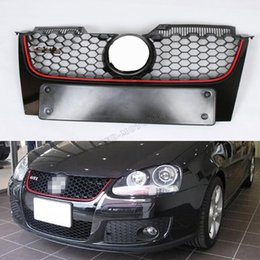 Wholesale Golf Gti Carbon - Wholesale- Golf 5 MK5 ABS Car front bumper Mesh grill grille cover for VW Golf V MK5 GTI bumper 2006 2007 2008 2009
