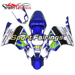 Wholesale honda rc51 motorcycle - Full Fairing Blue White Green For Honda VTR1000 RC51 SP1 SP2 00 01 02 03 04 05 06 Compression ABS Motorcycle Fairing Kit Bodywork Cowling