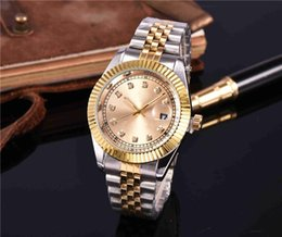 Wholesale New Fashion Leather Usa - R0LE brands fashion Leisure design luxury diamonds mens watches usa automatic quartz clocks silver stainless steel gold face Sports leather