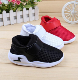Wholesale Toddler Boys White Canvas Shoes - Mesh Children Shoes 2017 Summer Fashion Footwear Baby Toddler Breathable Net Girls Boys Sport Shoe Non-slip Kids Sneakers