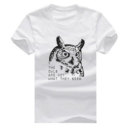 Wholesale Twin Peaks The Owl New Fashion Man T Shirt Cotton O Neck Mens Short Sleeve Mens tshirt Male Tops Tees