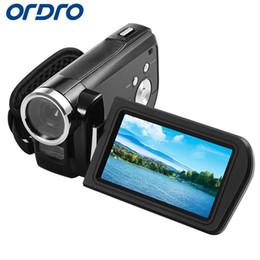 Wholesale Full Hdv - Wholesale-Ordro 3.0 inch HDV-Z3 Rotation Screen 1080P Full HD Reflex Digital Cameras Professional Video Recorder 24MP CMOS Photo Camera