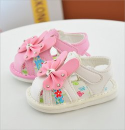 Wholesale Cheap Toddler Girls Sandals - Wholesale cheap girl crystal sandals white pink 2017 summers cute bow princess toddler shoes baby kids soft sole hook loop skidproof 14-18