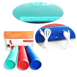 Wholesale Bluetooth Speakers Blue Box - Branded Charge J5+ Splashproof Portable Bluetooth Speaker Rechargeable Battery Speakerphone Blue Green Red with retail box